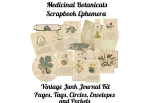 Print on Demand: Medicinal Botanicals Journal Kit Gráfico Ilustraciones Por Scrapbook Attic Studio