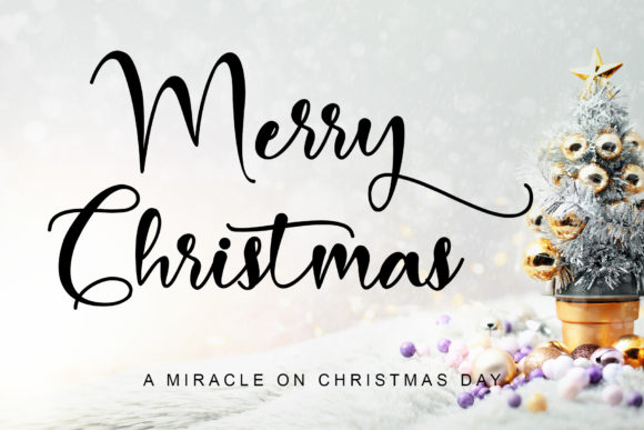 Print on Demand: Merry Christmas Baby Script & Handwritten Font By Stefani Letter
