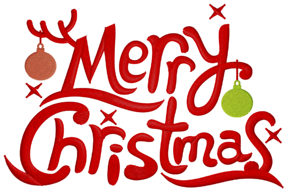 Merry Christmas Logo Embroidery Download