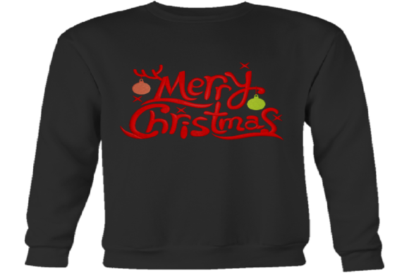 Merry Christmas Logo Embroidery Item