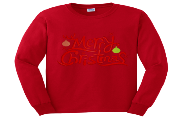 Merry Christmas Logo Embroidery Preview