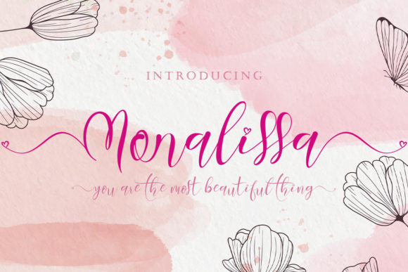 Print on Demand: Monalissa Script & Handwritten Font By yogaletter6
