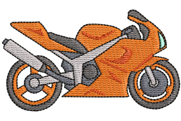 Motorcycle Sports Embroidery Design By BabyNucci Embroidery Designs