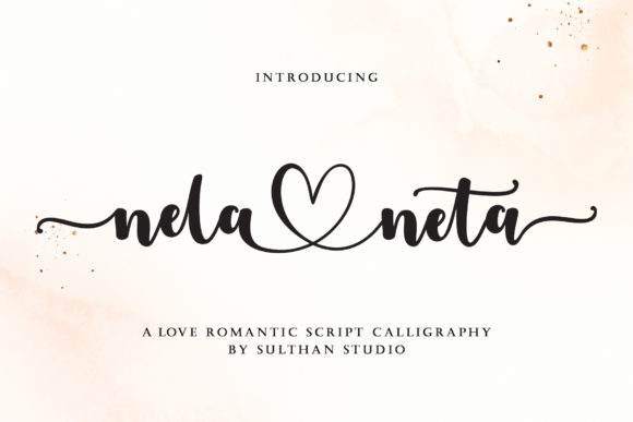 Print on Demand: Nela Neta Script & Handwritten Font By Sulthan Studio