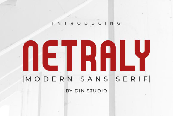 Print on Demand: Netraly Sans Serif Font By Din Studio