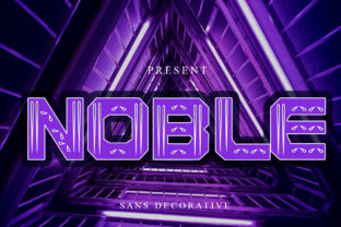 Print on Demand: Noble Display Font By edwar.sp111 1