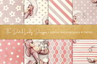 Print on Demand: Nursery Bear Seamless Patterns Graphic Patterns By daphnepopuliers