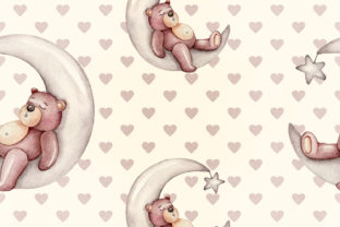 Print on Demand: Nursery Bear Seamless Patterns Graphic Patterns By daphnepopuliers 4