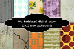 Print on Demand: Old Fashioned Digital Paper Graphic Crafts By A Design in Time
