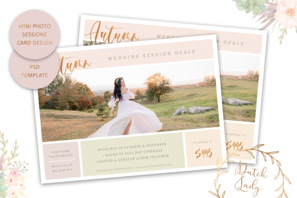 Print on Demand: PSD Photo Session Card Template #71 Graphic Print Templates By daphnepopuliers