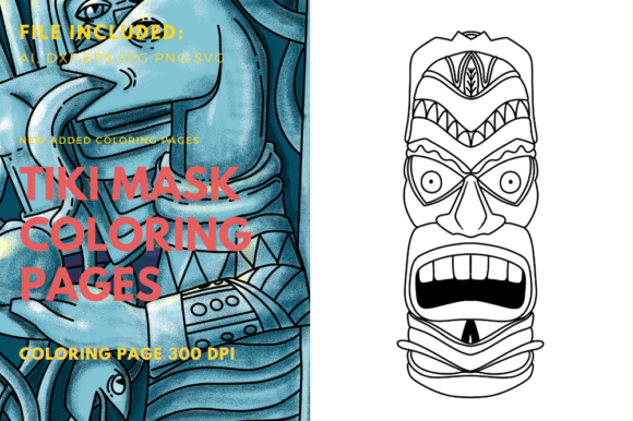 Print on Demand: Polynesian Art Coloring Book Element Graphic Coloring Pages & Books Adults By stanosh