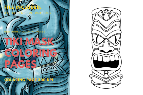 Print on Demand: Polynesians Traditional Tiki Mask Graphic Print Templates By stanosh