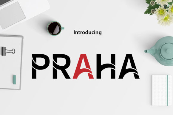 Print on Demand: Praha Display Font By da_only_aan