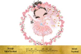 Pretty Pink Ballerina Graphic Illustrations By STBB