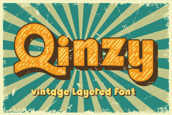 Print on Demand: Qinzy Display Font By attypestudio
