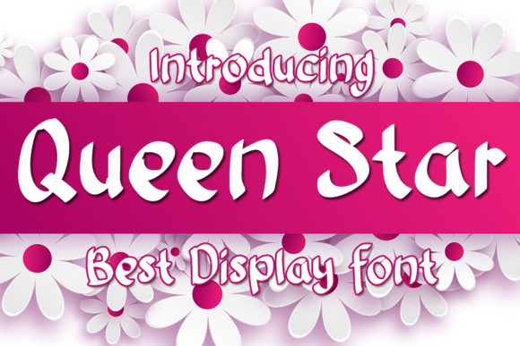 Print on Demand: Queen Star Display Font By Eddygoodboy