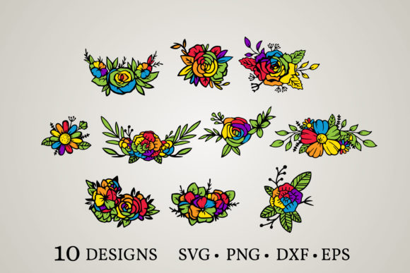 Rainbow Flower Svg Graphic Print Templates By Euphoria Design