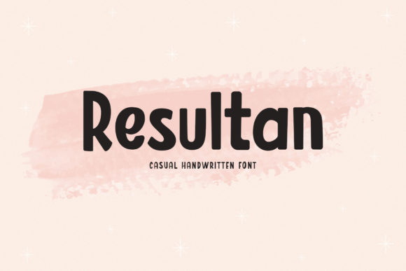 Print on Demand: Resultan Display Font By BrandSemut