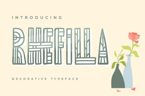 Print on Demand: Rhefilla Decorative Font By Vunira