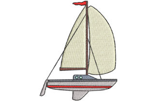 Sail Boat Sports Embroidery Design By BabyNucci Embroidery Designs