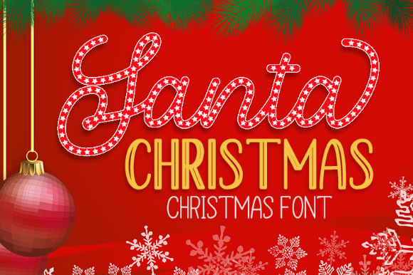 Print on Demand: Santa Christmas Manuscrita Fuente Por YonTypeStudio.Co