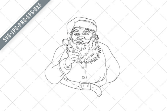 Print on Demand: Santa Claus Saint Nicholas I Want You Graphic Illustrations By patrimonio