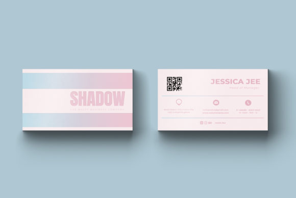 Shadow Business Cards Graphic Graphic Templates By rzkaamalya