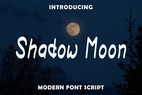 Print on Demand: Shadow Moon Script & Handwritten Font By rangkaiaksara