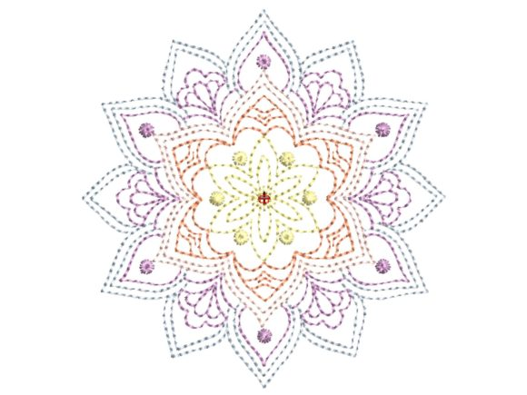 Simple Mandala Mandala Embroidery Design By carasembor