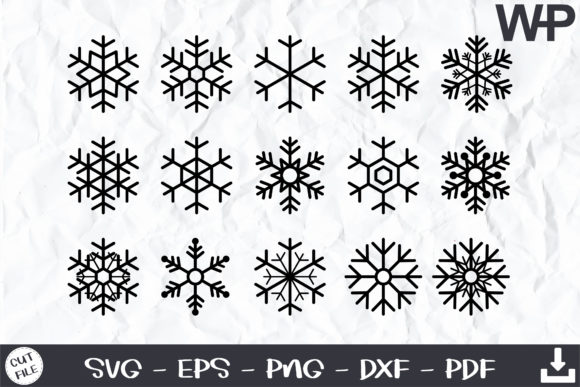 Snowflake Svg, Christmas Snowflake Svg Graphic Objects By wanchana365