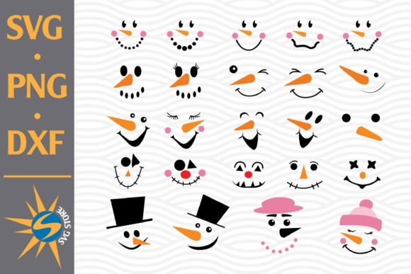 Print on Demand: Snowman Face Graphic Crafts By SVGStoreShop