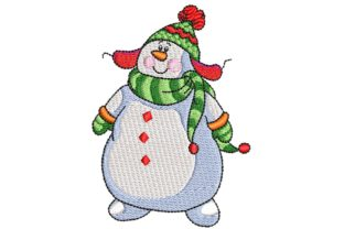 Snowman Nice Hat Christmas Embroidery Design By BabyNucci Embroidery Designs