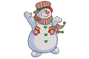 Snowman Taa Daaa!!! Christmas Embroidery Design By BabyNucci Embroidery Designs 1