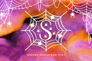 Print on Demand: Spooky Monogram Decorative Font By utopiabrand19