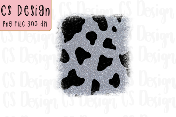 Print on Demand: Sublimation Clipart Cow Glitter Design Graphic Crafts By CSDesign