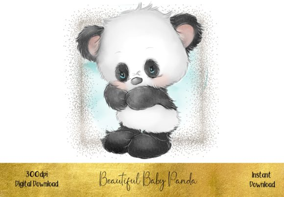 Sweet Baby Panda Bear Graphic Illustrations By STBB