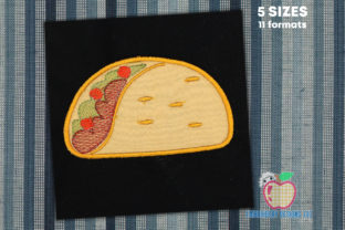 Taco Bout Applique Design Food & Dining Embroidery Design By embroiderydesigns101