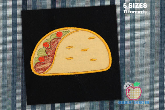 Taco Bout Applique Design Food & Dining Stickdesign von embroiderydesigns101