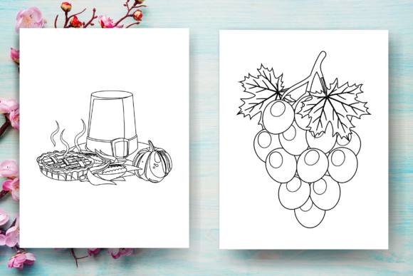 Thanksgiving Coloring Page for Kids-KDP Graphic Download