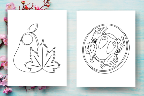 Thanksgiving Coloring Page for Kids-KDP Graphic Item