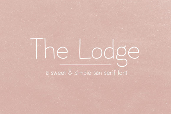 Print on Demand: The Lodge Sans Serif Font By Jess Bailey