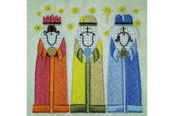 Three Wise Kings Christmas Embroidery Design By BabyNucci Embroidery Designs
