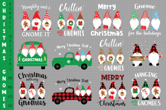 Ultimate Christmas Gnomes Bundle Grafik Plotterdateien von All About Svg