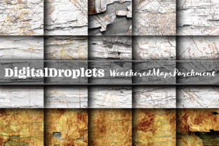Weathered Maps Parchment Graphic Textures By FlyingMonkies