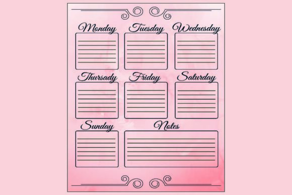 Weekly Planer Graphic Print Templates By KDP DESIGNER