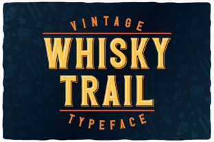 Print on Demand: Whisky Trail Display Fuente Por Vozzy Vintage Fonts And Graphics 1