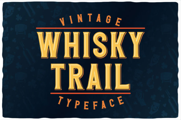 Print on Demand: Whisky Trail Display Font By Vozzy Vintage Fonts And Graphics