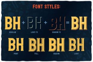Print on Demand: Whisky Trail Display Fuente Por Vozzy Vintage Fonts And Graphics 3