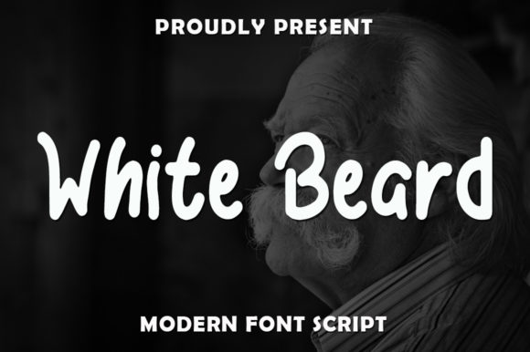 Print on Demand: White Beard Script & Handwritten Font By rangkaiaksara