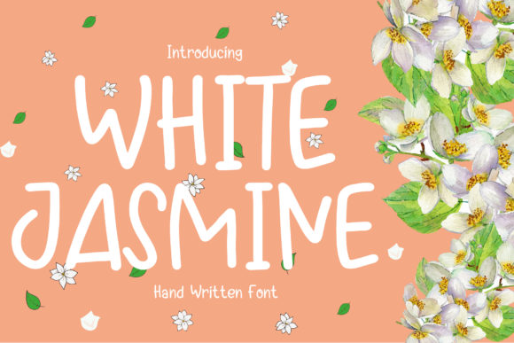 Print on Demand: White Jasmine Script & Handwritten Font By boogaletter
